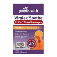 Good Health Viralex Soothe Epicor Throat Lozenges