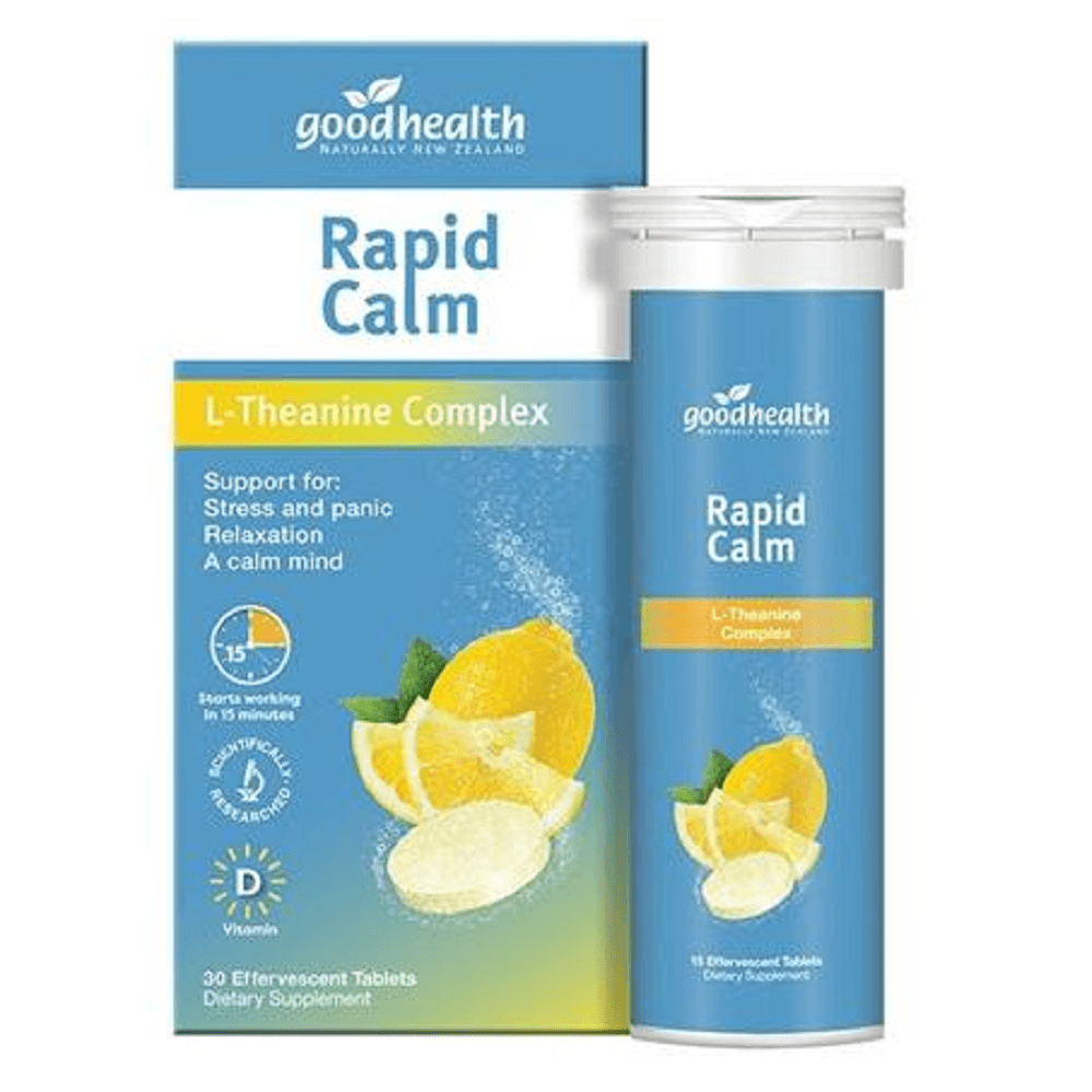 Good Health Rapid Calm Effervescent | 30 Tablets
