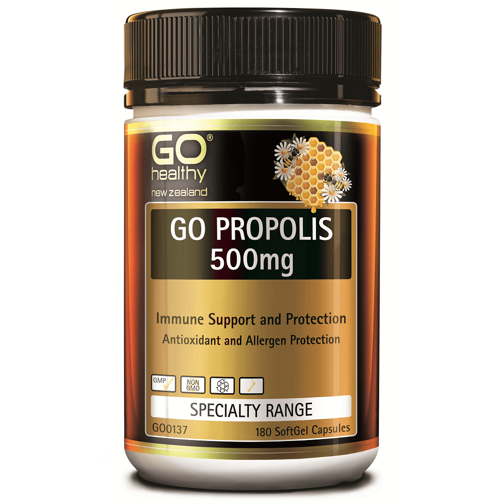 GO Healthy GO Propolis 500mg - 180 Softgel Capsules