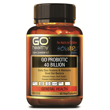 GO Healthy GO Probiotic 40 Billion - 60 Vege Capsules