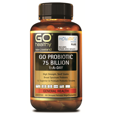 GO Healthy GO Probiotic 75 Billion 1-a-Day - 60 Vege Capsules