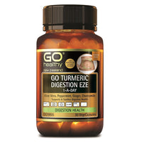 GO Healthy GO Turmeric Digestion Eze 1-a-Day - 30 Vege Capsules
