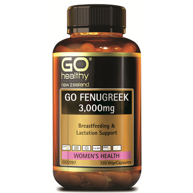 GO Healthy GO Fenugreek 3,000mg - 120 Vege Capsules