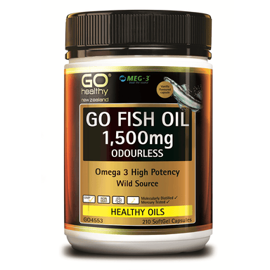 GO Healthy GO Fish Oil 1,500mg Odourless - 210 Softgel Capsules