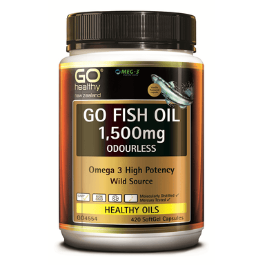 GO Healthy GO Fish Oil 1,500mg Odourless - 420 Softgel Capsules