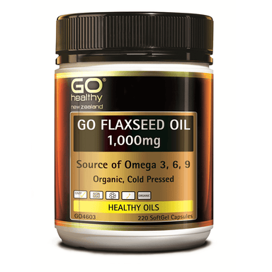 GO Healthy GO Flaxseed Oil 1,000mg - 220 Softgel Capsules