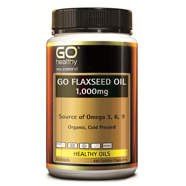 GO Healthy GO Flaxseed Oil 1,000mg - 440 Softgel Capsules