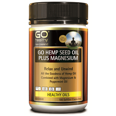 GO Healthy GO Hemp Seed Oil Plus Magnesium - 100 Softgel Capsules