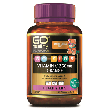 GO Healthy GO Kids Vitamin C 260mg Orange - 60 Chewable Tablets