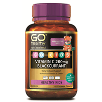 GO Healthy GO Kids Vitamin C 260mg Blackcurrant - 60 Chewable Tablets