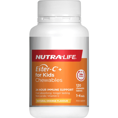 Nutra Life Ester-C+ for Kids - 120 Chewable Tablets
