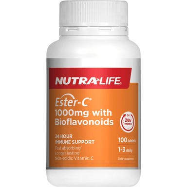 Nutra Life Ester-C 1000mg + Bioflavonoids - 100 Tablets