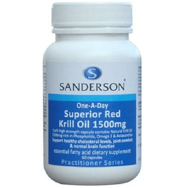 SANDERSON Superior Red Krill 1500mg - 60 Capsules