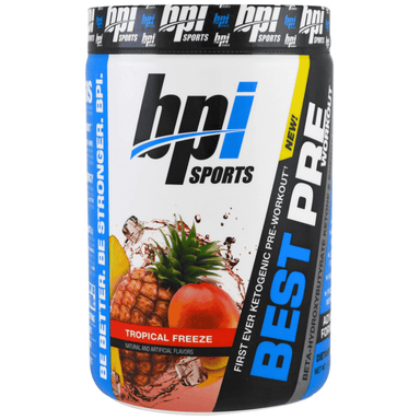 BPI Sports Best Ketogenic Pre-Workout 30 Servings - Tropical Freeze