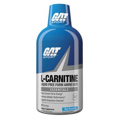 GAT Sport Essentials Liquid L-Carnitine 32 Servings - Blue Raspberry