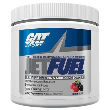 GAT Sport JetFuel Premium Cutting & Shredding Powder 40 Servings - Berry Blitz