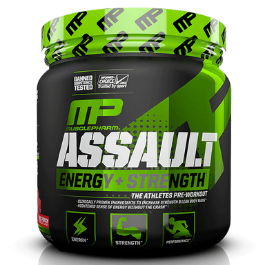 MusclePharm ASSAULT Energy+Strength 30 Servings - Fruit Punch