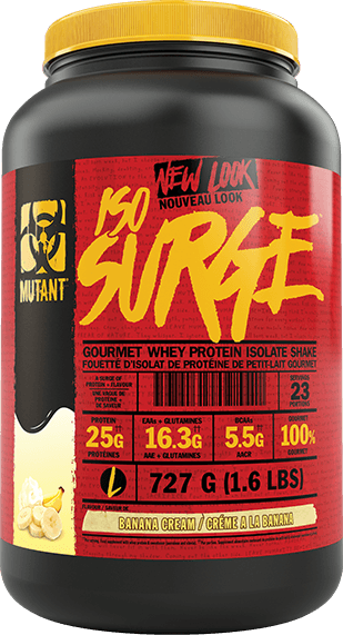 Mutant ISO Surge Gourmet Whey Protein Isolate Shake 1.6 lbs - Banana Cream