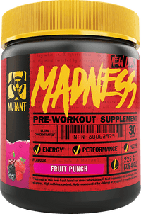 Mutant Madness Pre-Workout Supplement 30 Servings - Fruit Punch