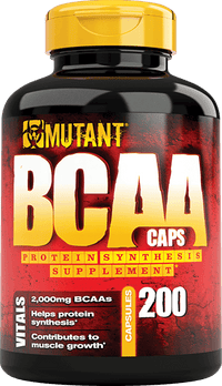 Mutant BCAA Protein Synthesis Supplement Capsules 50 Servings
