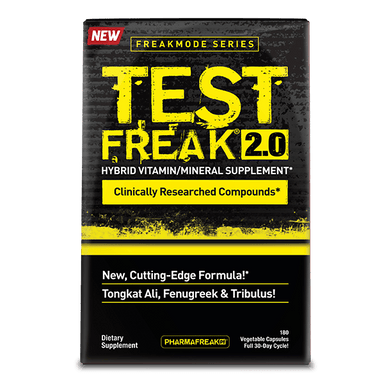 PharmaFreak Test Freak 2.0 Hybrid Vitamin/Mineral Supplement 180 Capsules