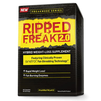 PharmaFreak Ripped Freak 2.0 Hybrid Weight-Loss Supplement 60 Capsules