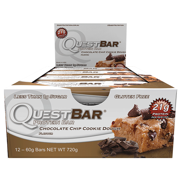 Quest Nutrition Protein Bars - Chocolate Chip Cookie Dough