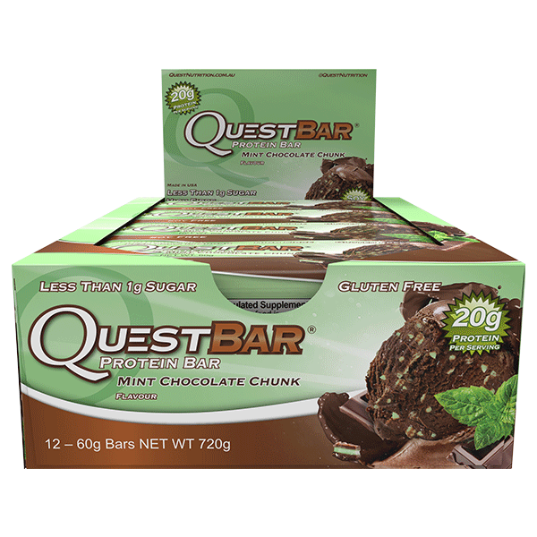 Quest Nutrition Protein Bars - Mint Chocolate Chunk