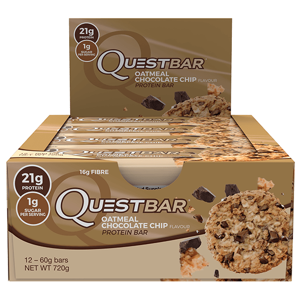 Quest Nutrition Protein Bars - Oatmeal Chocolate Chip