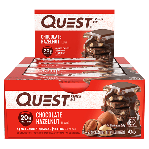 Quest Nutrition Protein Bars - Chocolate Hazelnut