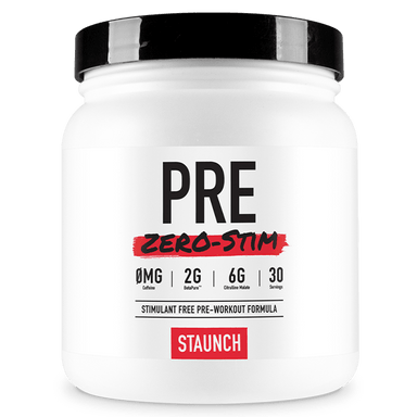 Staunch Nation PRE Zero-Stim Pre-Workout Formula - Blue Baz Berry