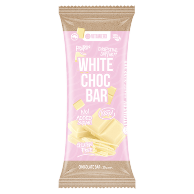 Vitawerx WHITE CHOC Protein Bar 35g - White Chocolate