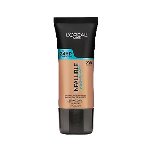 L'Oreal Infallible Pro-Glow Foundation | 208 Sun Beige