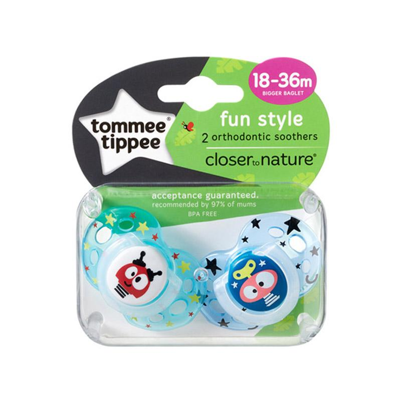 tommee tippee Closer to Nature Fun Style Soother 18-36m 2pk
