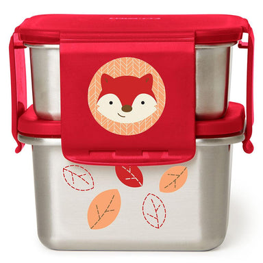 Skip Hop Zoo Stainless Steel Lunch Kit Fox