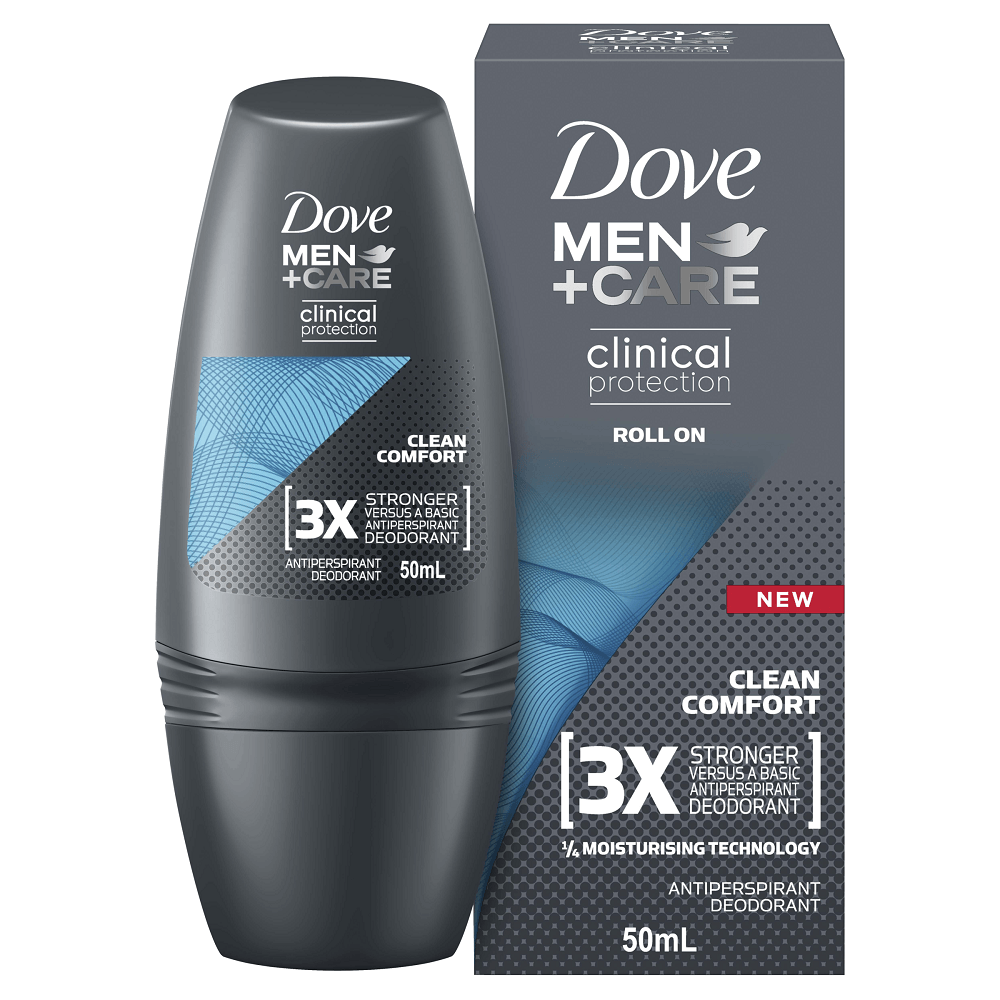 Dove Men+Care Clinical Protection Anti-Perspirant Roll-On Clean Comfort 50mL