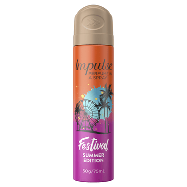 Impulse Perfume in a Spray Deodorant Festival Summer Edition 75mL