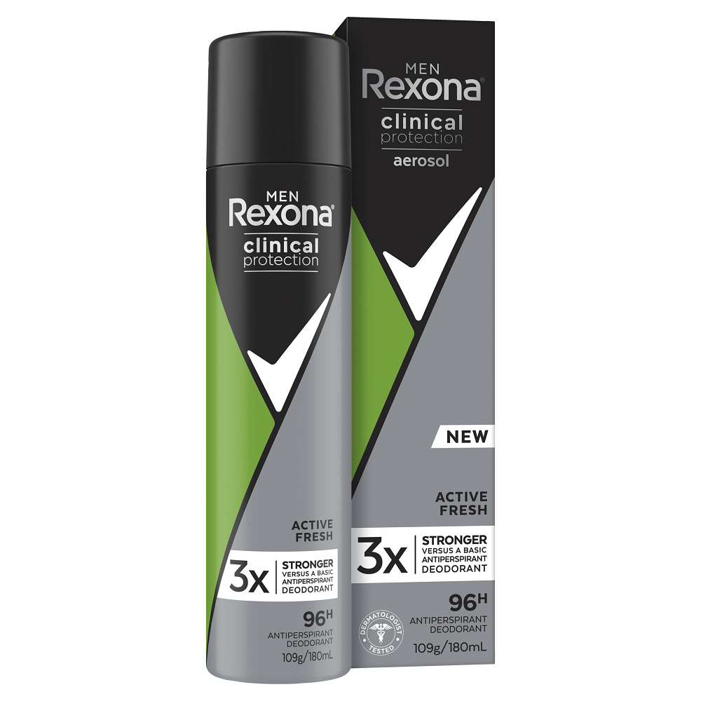 Rexona Men Clinical Protection 96H Anti-Perspirant Active Fresh 180mL
