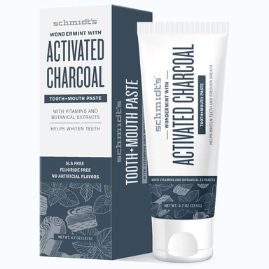 schmidt's Wondermint with Activated Charcoal Tooth+Mouth Paste 133g