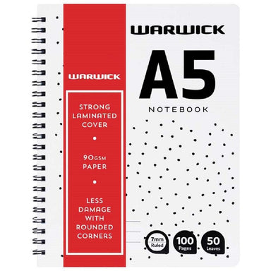 Warwick A5 Notebook Wiro No Need To Cover 50 Leaves Ruled