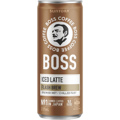 Suntory Boss Coffee Iced Latte 237mL (12 Pack)