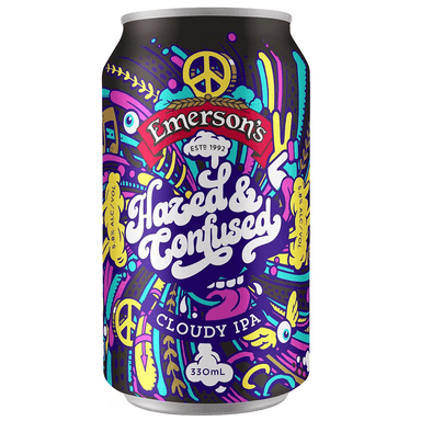 Emerson's Hazed & Confused Cloudy IPA Beer 330mL Can