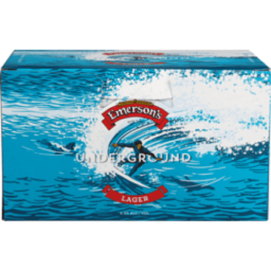 Emerson's Underground Lager Beer 330mL Can 6 Pack