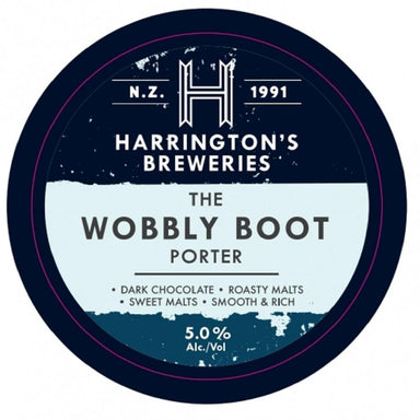 Harrington's Wobbly Boot Porter Beer 330mL Bottle 6 Pack