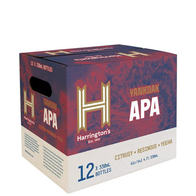 Harrington's Yankdak APA Beer 330mL Bottle 12 Pack