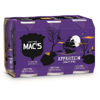 MAC'S Apparition Hazy IPA Beer 330mL Can 6 Pack
