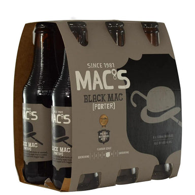 MAC'S Black Beer 330mL Bottle 6 Pack