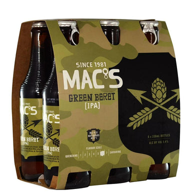 MAC'S Green Beret Beer 330mL Bottle 6 Pack