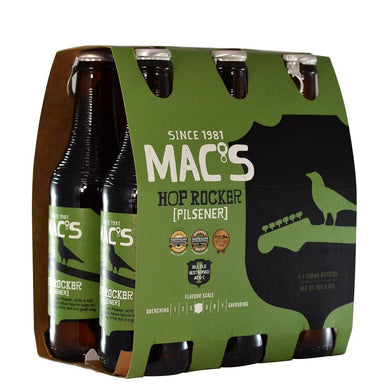 MAC'S Hop Rocker Beer 330mL Bottle 6 Pack