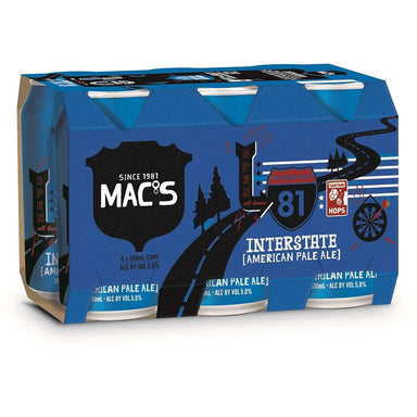 MAC'S Interstate APA Beer 330mL Can 6 Pack